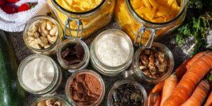 Aliments dans des pots
